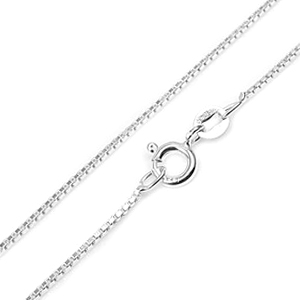 1mm Sterling Silver Box Neck Chain In Fifteen Inches