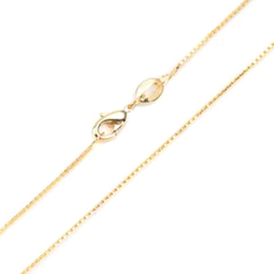 .9mm 14k Gold Plated Box Neck Chains