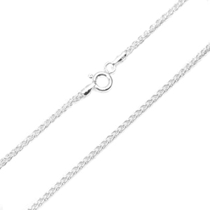 Eighteen Inch 1.5mm Sterling Silver Spiga Chain