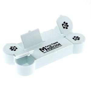 Dog Bone Shaped Pill Box with Paw Prints- HSKU:HC-103