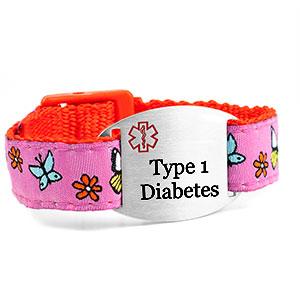 Butterfly Type 1 Diabetes Bracelet