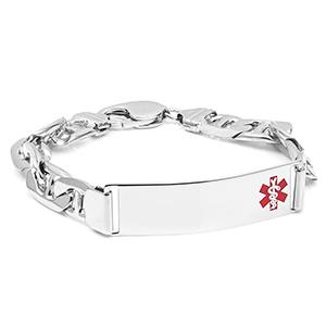 Byron Anchor Link Sterling Silver Medical Bracelet