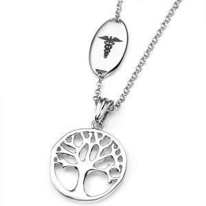 Tree of Life Medical ID Necklaces for Women