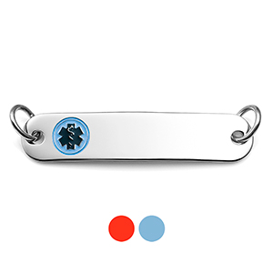 Color Choices Slim Steel Medical Alert Tags