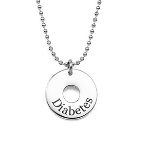 Contemporary Diabetic Jewelry Circle Pendant