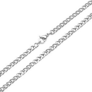 4mm Curb Link Stainless Steel Chain 28 inch