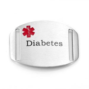 Diabetic Bracelets Medical ID Tag for Sport Straps