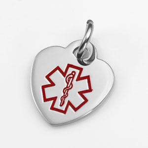 Half Inch Heart Style Medical Charm