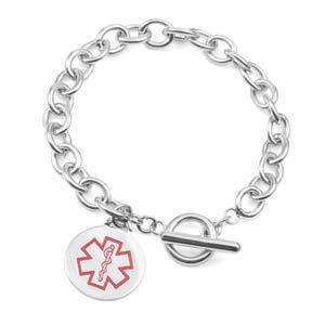 Kalea Toggle Style Medical ID Bracelet