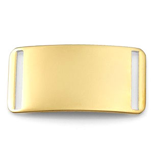 Gold Plated Blank Slate ID Tag