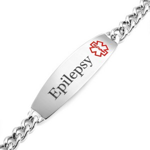 Wide Medical ID Epilepsy Bracelet