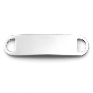 Surgical Steel ID Tag for Custom Bracelets