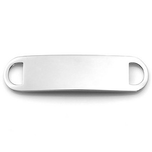 Two Inch Surgical Steel ID Tag for Custom Bracelets