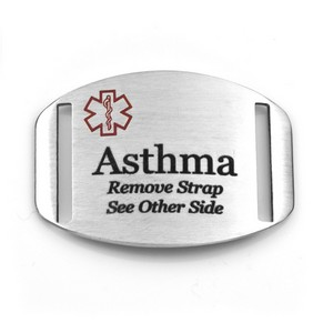 Medical ID Tag for Asthma Bracelets