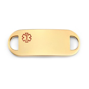 Engravable Gold Plated Medical ID Tag