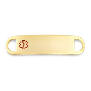 Gold Medical Tag for Medical Alert Bracelets