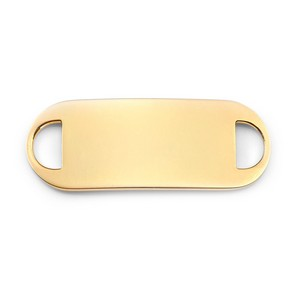 Gold Plated ID Tag for Custom Medical Bracelets