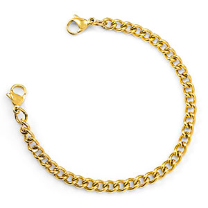 Gold Linking Chain Medical Alert Bracelets Strap