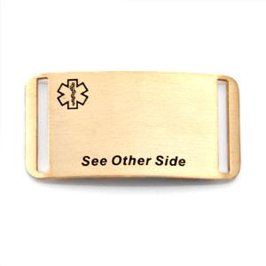 See Other Side Gold Tag for Sportstrap Bracelets
