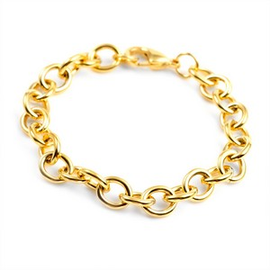 7 Inch Gold Plated Stainless Steel Bracelet for Charms