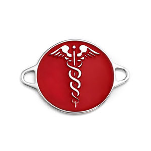 Rounded Red Engravable Medical ID Tag
