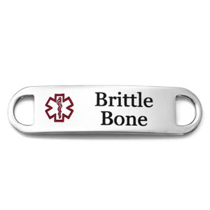 Brittle Bone Alert Medical Tag for ID Bracelets