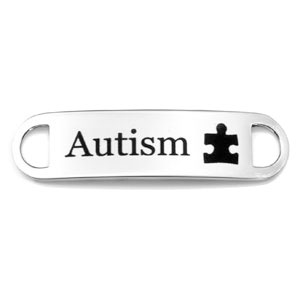 Autism Puzzle Piece ID Tag for Bracelet