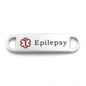 Medical ID Tag for Epilepsy Bracelets