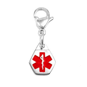 Petite Stainless Steel Medical ID Charm on Lobster Clasp