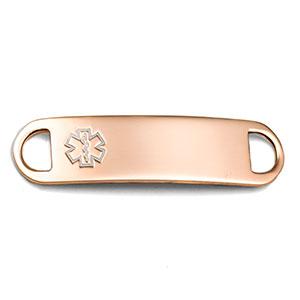 Rose Gold Medical ID Tag for Medical Bracelets