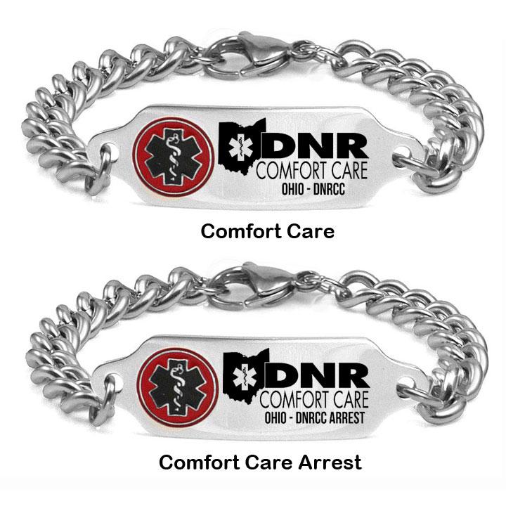 Ohio DNR Comfort Care Medical Alert Bracelet 7 - 9 In