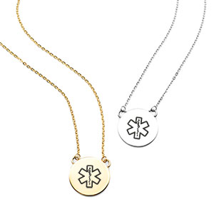 Lena Medical ID Necklaces for Women
