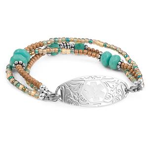 Desert Treasure Beaded Medical Alert Bracelet