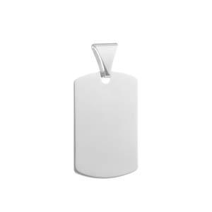 Engravable Silver Pendant