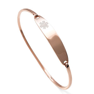 Lesly Rose Gold Medical Alert Bracelets for Women