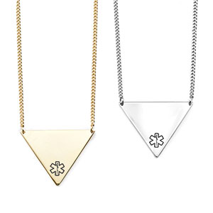 Triangle Medical Necklace