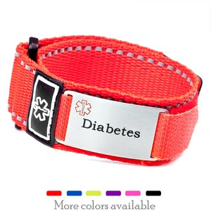 Durable Sport Strap Diabetic Bracelets in Various Colors