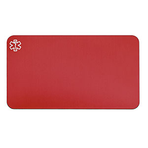 Engravable Red Aluminum Medical ID Card for Wallet