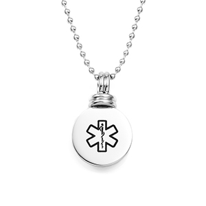 Fashionable Ladies Medical Alert Necklace