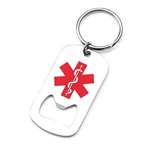 Medical Dog Tag Bottle Opener Keychain - HSKU:1058
