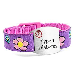 Flower Garden Type 1 Diabetes Bracelet