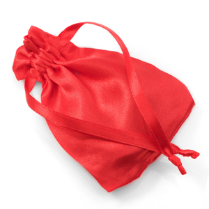 Red Satin Gift Bag with Drawstring