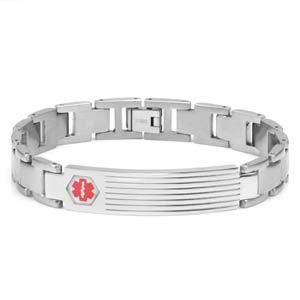 Benedict Steel Link Medical ID Bracelet