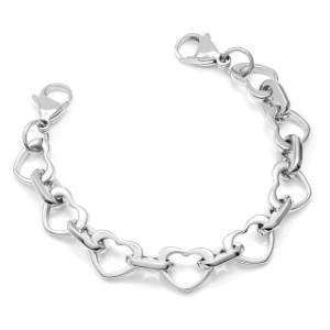 Heart Link Bracelet for Medical Tags 6 inch