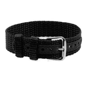 Black Buckle Strap for ID Tag