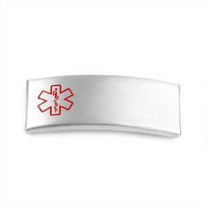 Steel Medical ID Tag for Silicone Band