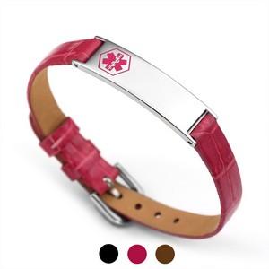 Audrina Leather Medical ID Bracelets