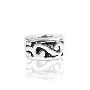 Sterling Silver Scroll Clip - Charm Stopper #3