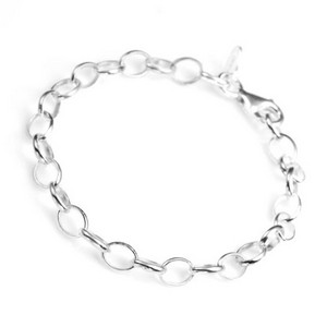 Polished Sterling Silver Charm Bracelets