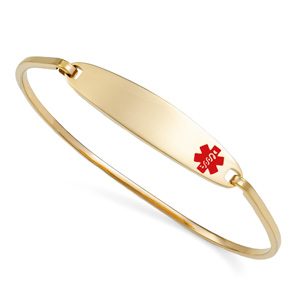 Lesly Gold Medical Bangle Bracelets